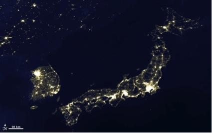 japon_desde el espacio